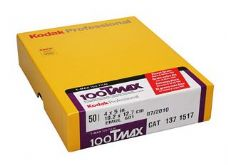"T-Max 100 4x5"" 10 Sheets SHORT DATE"